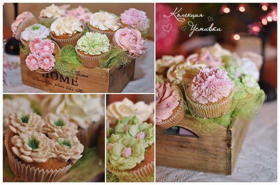 Flower cupcake by Dessy Ivanova