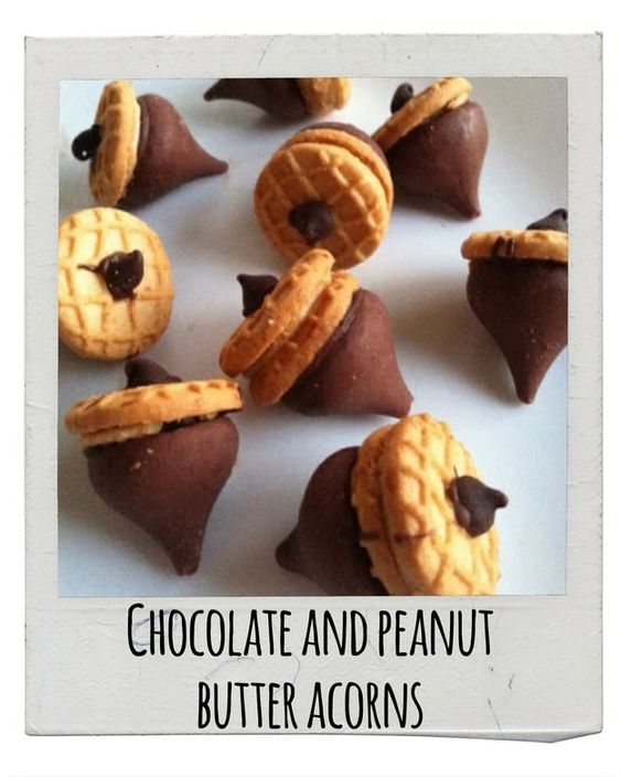 Chocolate And Peanut Butter Acorns