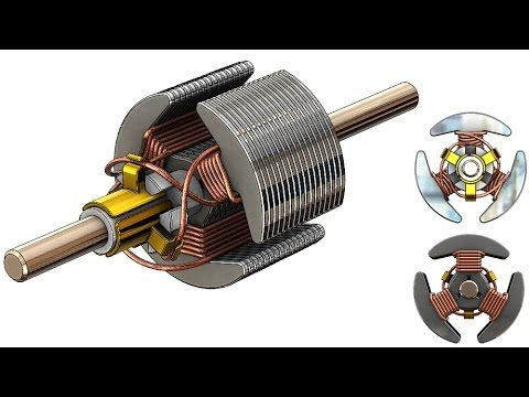 Solidworks Tutorial 262 Rotor Coil Wiring Solidworks Tutorial Solidworks Mechanical Design
