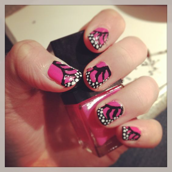 Butterfly nails!:)