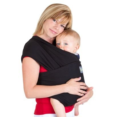 Boba Wrap Classic Baby Carrier - Black -stretchier material than moby