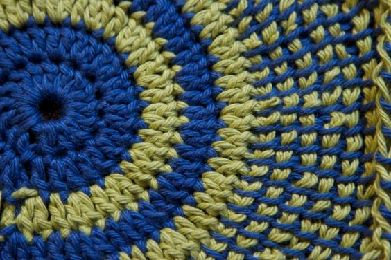 Tunisian Knit Stitch In The Round : Tunesian crochet in the round crochet - tunisian Pinterest The oja...