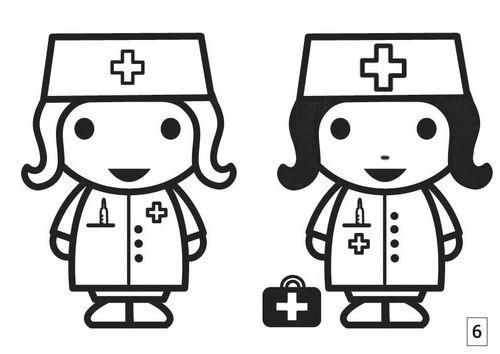 kleurplaten dokter peuters