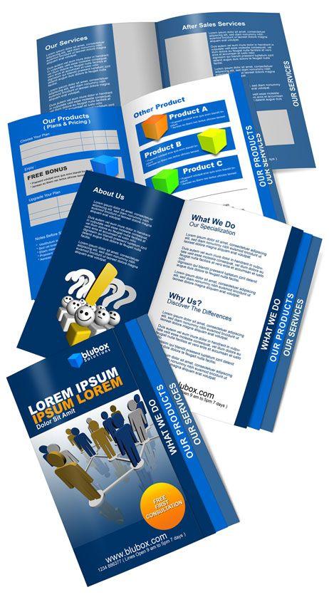 Tabbed Brochure Action Script  Brochure  Booklet Mockups