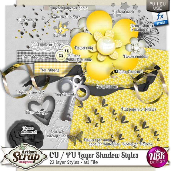 CU / PU Layer Shadow Styles  Realistic drop shadows in just one click! A must have Set of Shadows. With this set you give your ...