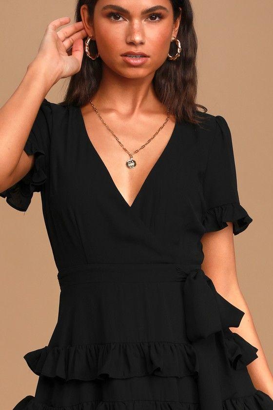 21+ Black ruffle dress ideas