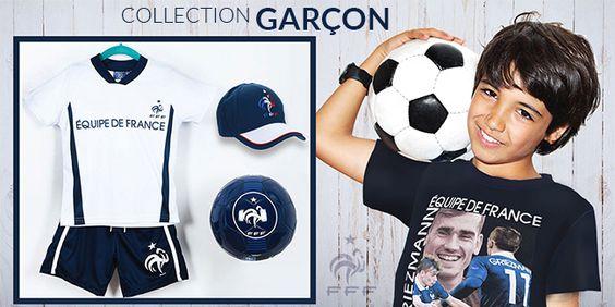 Soyez prêt pour soutenir la #France lors des #match de l'#UEFA cet #été avec la collection #FFF de www.tous-les-heros.com #mode #enfant #football #foot #tenue