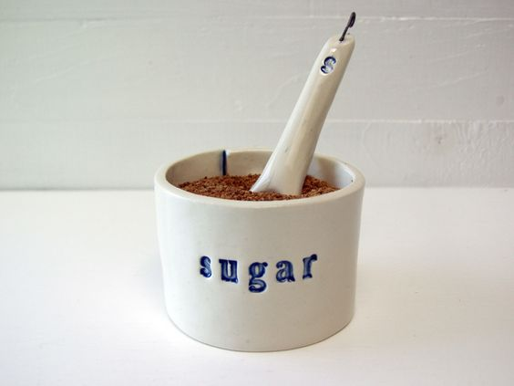Sugar Bowl. With Matching Sugar Spoon. Hand-Built Ceramic. In Blue. by AcmeHumane on Etsy https://www.etsy.com/listing/250842375/sugar-bowl-with-matching-sugar-spoon