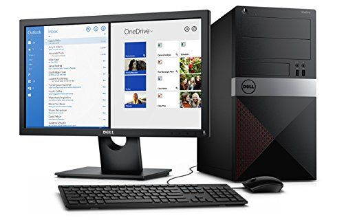 2016 Newest Dell Vostro Tower Business Flagship Desktop (AMD Dual Core CPU up to 4.0GHz, Radeon R3 Graphics, 4GB RAM, 500GB HDD, DVDRW, USB 3.0, HDMI, Windows 7/10 Professional)