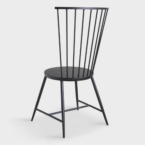 Black Steel Neal Dining Chair Dining Chairs Chair Feature Chair