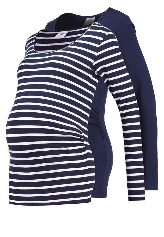 MAMALICIOUS MLLEA 2 PACK Langarmshirt navy blazer Bekleidung bei Zalando.de | Material Oberstoff: 95% Baumwolle, 5% Elasthan | Bekleidung jetzt versandkostenfrei bei Zalando.de bestellen!