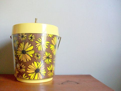 vintage 60s 70s west bend thermoserve floral by compostthis
