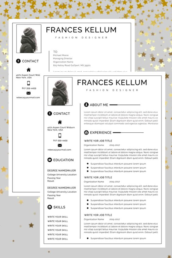 Resume Template Instant Download Professional Resume Etsy Resume Template Word Teacher Resume Template Creative Resume Templates