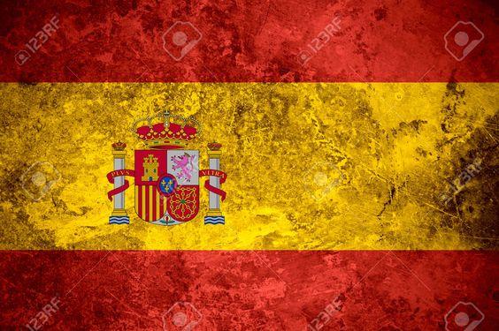 Flagge Von Spanien Oder Spanische Fahne Auf Vintage-Metall-Textur Lizenzfreie Fotos, Bilder Und Stock Fotografie. Image 29483741.