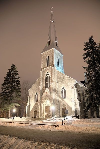 The Cathedral of St. Peter-In-Chains est in 1826 to serve a large community of Irish Catholics.  This is one of the oldest remaining Catholic churches in Ontario.  Gothic Revival style.: