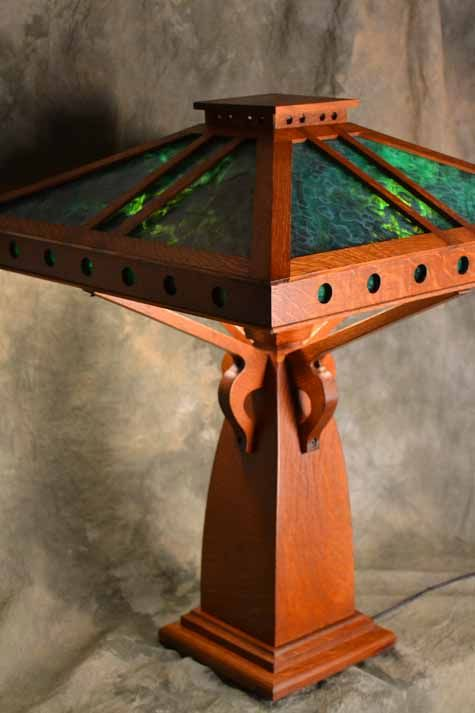 Lamps home furnishings and arts crafts on pinterest for Crafting wooden lamps