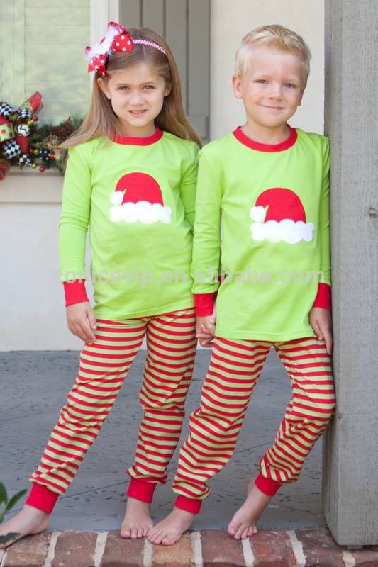 fashion unique kids red christmas pajamas for sleepwear with long ...
