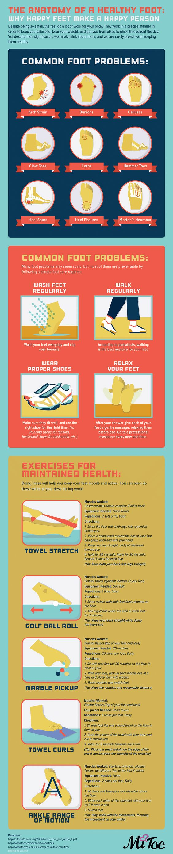 Infographic: The Anatomy of a Healthy Foot: