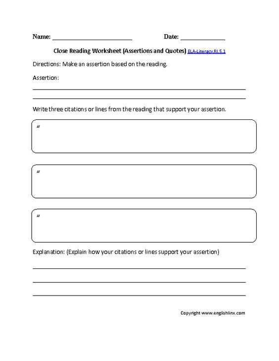 5th grade reading comprehension worksheets common core