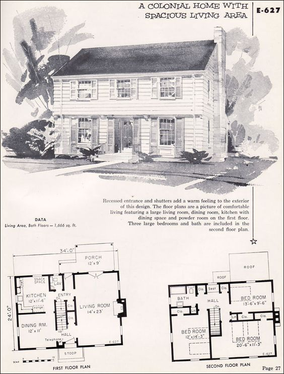 1955 Garrison Colonial As Found In The 1955 National Plan