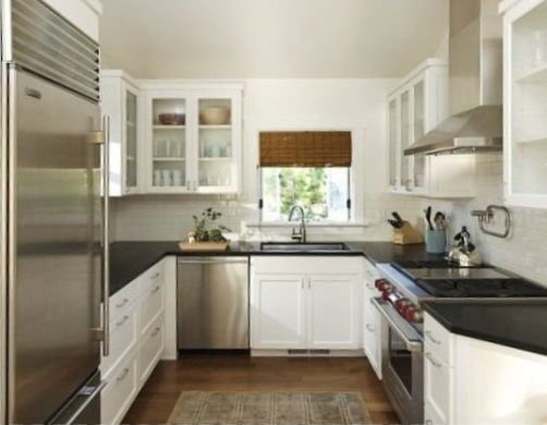 Easiest steps to arrange narrow space small kitchen for Small narrow kitchen designs