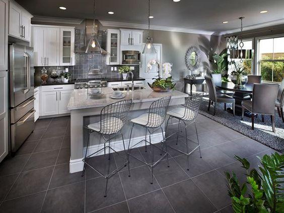 Decoracion cocinas cocina abierta al salon cocina - Cocinas abiertas rusticas ...