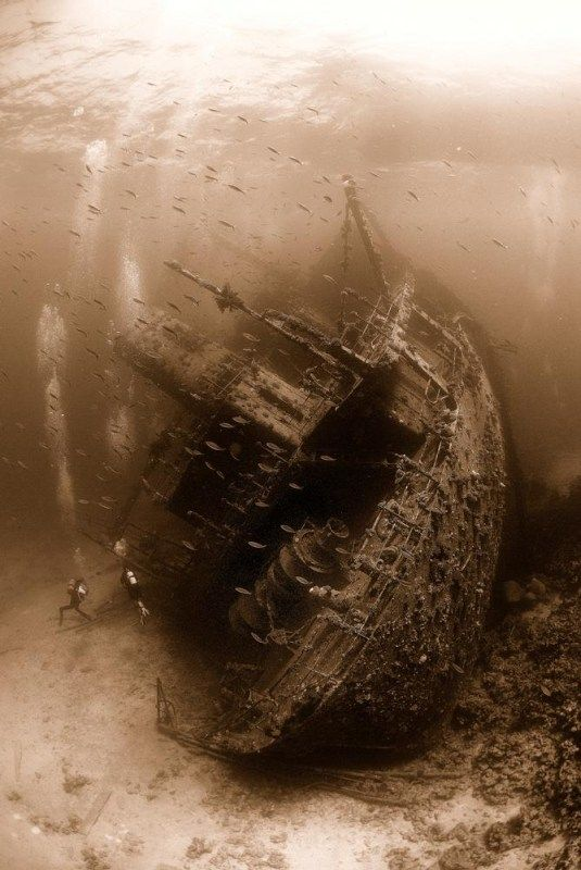 Unknown shipwreck...love the use of sepia in this shot!