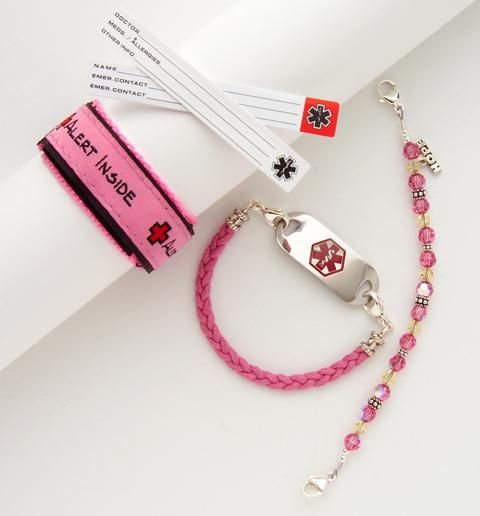 These are the cutest medical alert bracelets for little girls...I think I will be ordering some for my little one.
