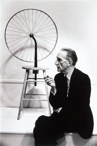 Marcel Duchamp with his Ready-Made.  Julian Wasser, 1963.