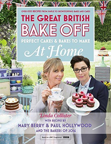 The great British Bake Off book cover with Mel and Sue on the cover, from the last series with the BBC in 2016.