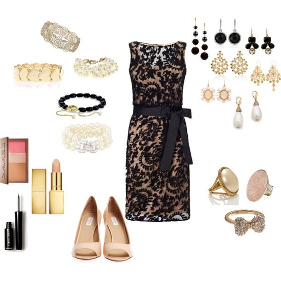 """""""Black Lace Dress"""" by silhouetteimage on Polyvore"""