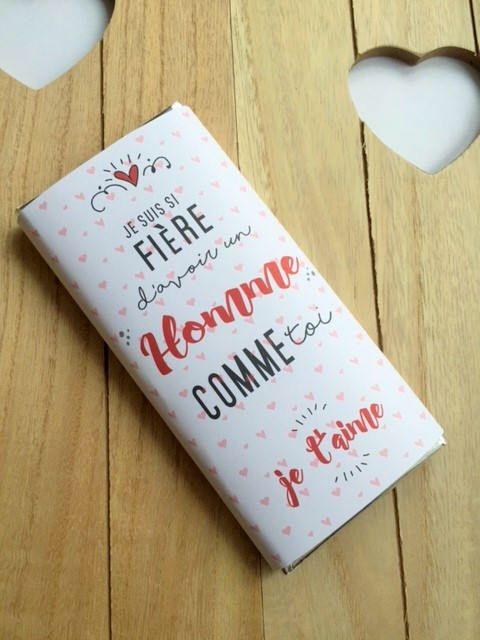 Tablette Chocolat Personnalisee Idee De Cadeau Saint Valentin