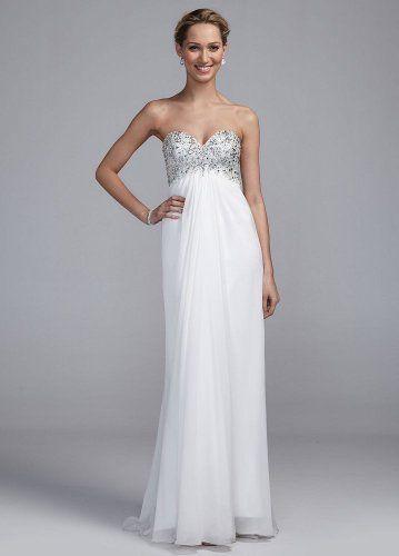 Long Chiffon Wedding Dress with Beaded Bust