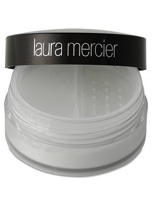 Laura Mercier invisible loose setting powder- Absolutely amazing.  I swipe this on after I've finished applying my makeup (before mascara).  It actually is invisible and doesn't give you that matte look.  It contains light reflecting powders which help to give you a very flawless and finished look.  It also helps to keep my makeup in place after I've had a long day.  It's a bit pricy at $34, but you really can't go wrong with it.
