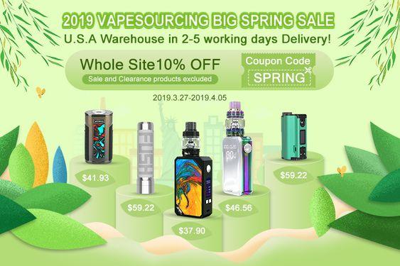 2019 Vapesourcing Big Spring Sale