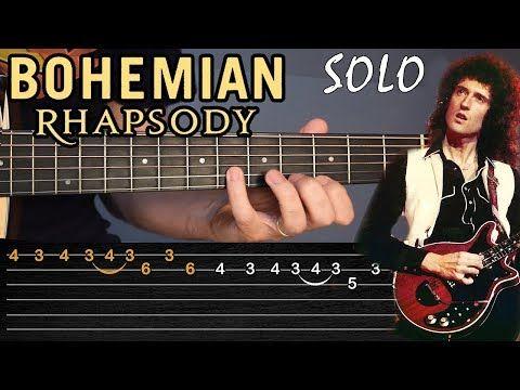 Como Tocar El Solo De Bohemian Rhapsody En Guitarra Acústica Tablaturas Tcdg Youtube Solos De Guitarra Tablaturas Guitarra Guitarra Acustica