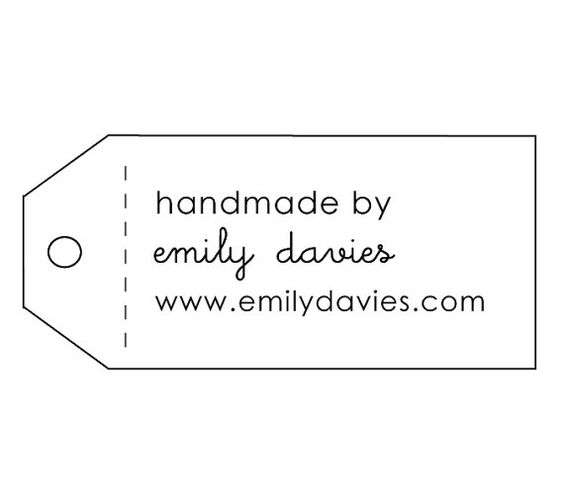 hand made tag rubber stamp  self-inking by twigandlinen on Etsy. I like that I can put my blog address on it.