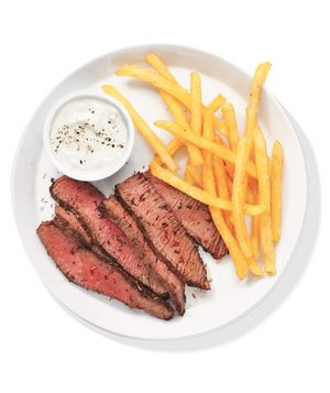 Herb-Crusted Steak With Fries Recipe