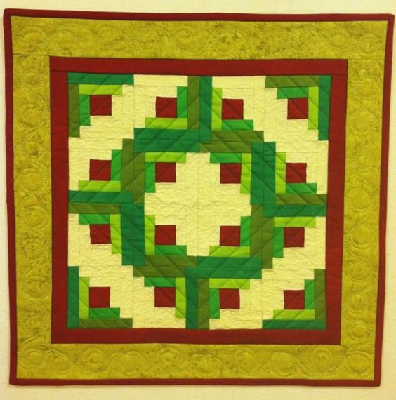 Quilt designs traditional and quilt on pinterest for Traditional log cabin plans