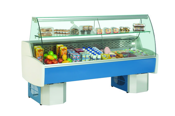 """PRIMA - Refrigeration system utilizes natural air circulation - Electronically controlled with digital temperature display - Flat glass / curved glass - AISI 304 stainless steel interior rear shelf and decks - Refrigerated understorage - Insulation by injected polyurethane """"In Situ"""" – 100% CFC free - Internal illumination for better display - Temperature range : +2ºC / +6ºC - Refrigerant R134a - The models were designed for operation under conditions of 25°C and 60% HR"""