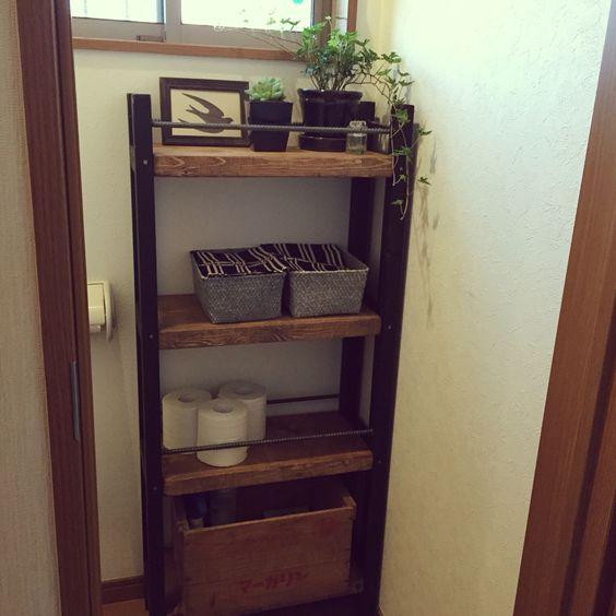 収納棚を作った forトイレ