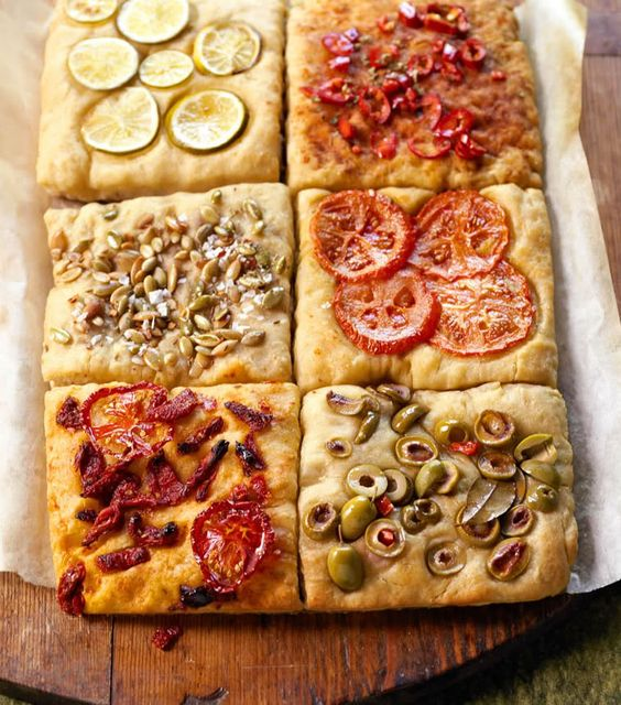Focaccia was one of my favorite foods as a kid. I dont remember it looking this pretty!