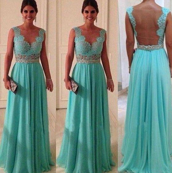 Lake Blue Plain Hollow-out Pleated Backless Lace Maxi Dress - Maxi Dresses - Dresses