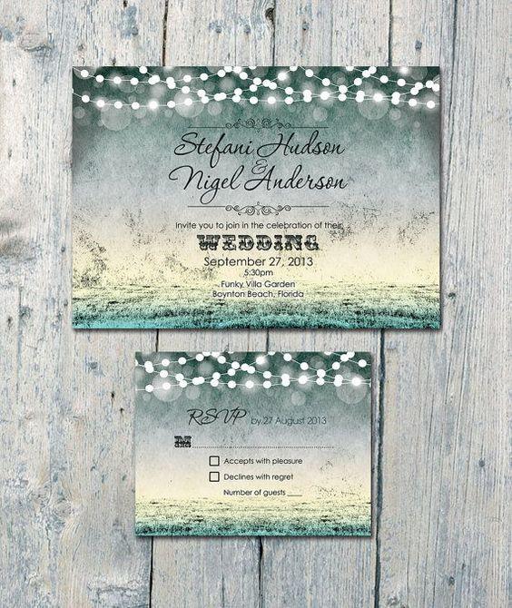 etsy handmade wedding invitations Google Search – Etsy Beach Wedding Invitations