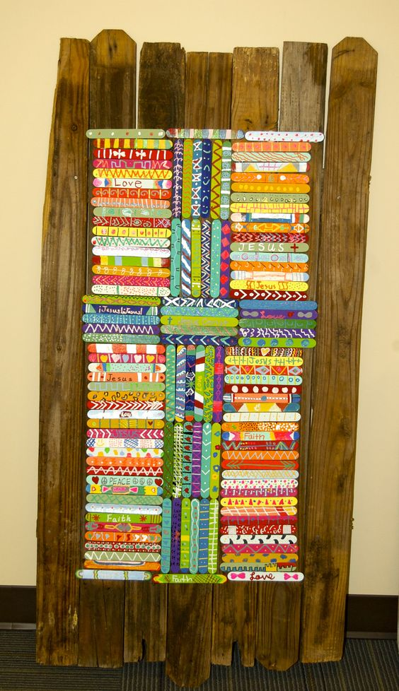 Popsicle stick art stick art and popsicle sticks on pinterest for Popsicle art projects
