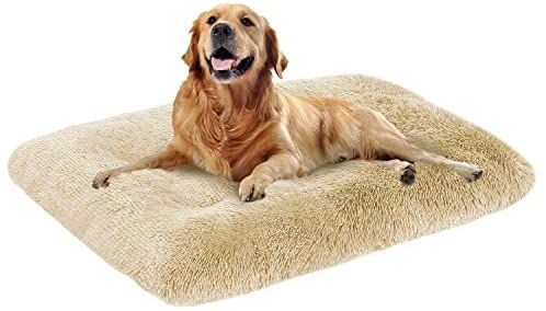 Amazon Com Oxs Dog Bed Long Plush Pet Bed Comfortable Faux Fur Washable Crate Mat For Jumbo Large Medium Dogs With Anti In 2021 Plush Pet Bed Jumbo Dog Bed Dog Bed
