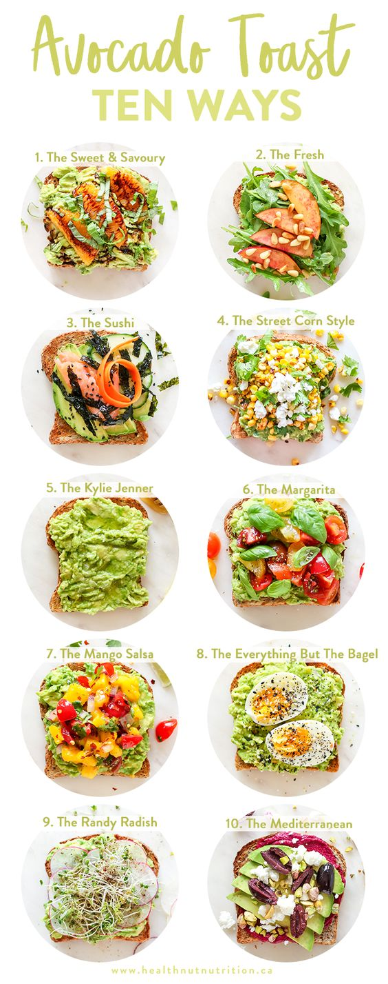 How to Make Avocado Toast 10 Ways