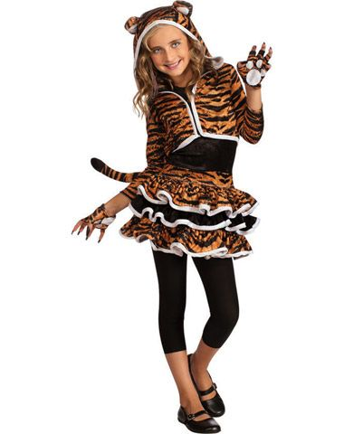 Tigress Hoodie Girl\u0027s Costume in Halloween 2012 from Spirit - party city store costumes