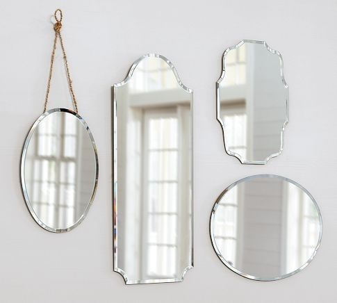 Pretty shaped mirrors to add sparkle to Milas room