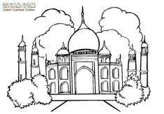 10 Contoh Gambar Mewarnai Pemandangan Masjid Beautiful 27